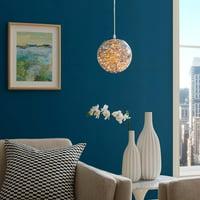 """Fairy 12"""" Amber Glass Globe Ceiling Light Pendant Chandelier in"""
