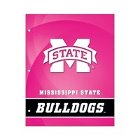 NCAA Mississippi State Bulldogs 2 Pocket Portfolio, Three Hole Punched, Fits Letter Size