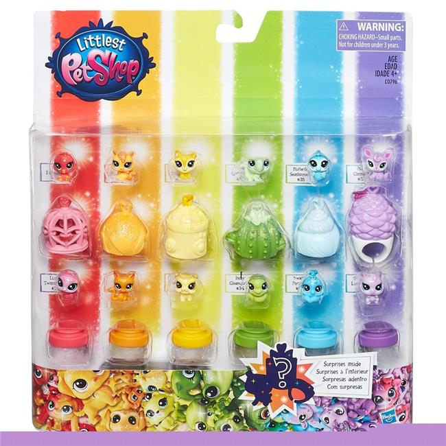 Hasbro HSBC0796 Littlest Pet Shop Rainbow Collection Pet Pack Set of 6 by Hasbro