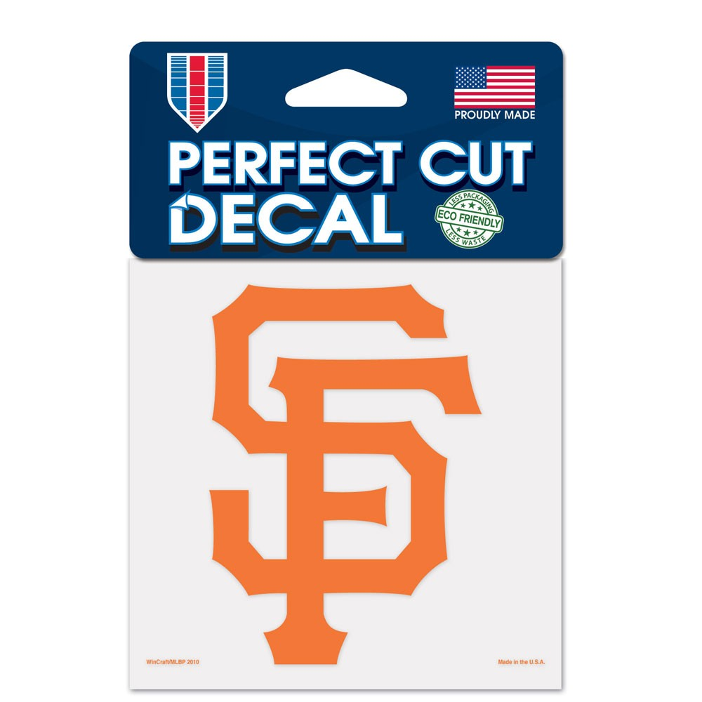 San Francisco Giants Official MLB 4 inch x 4 inch  Die Cut Car Decal by Wincraft