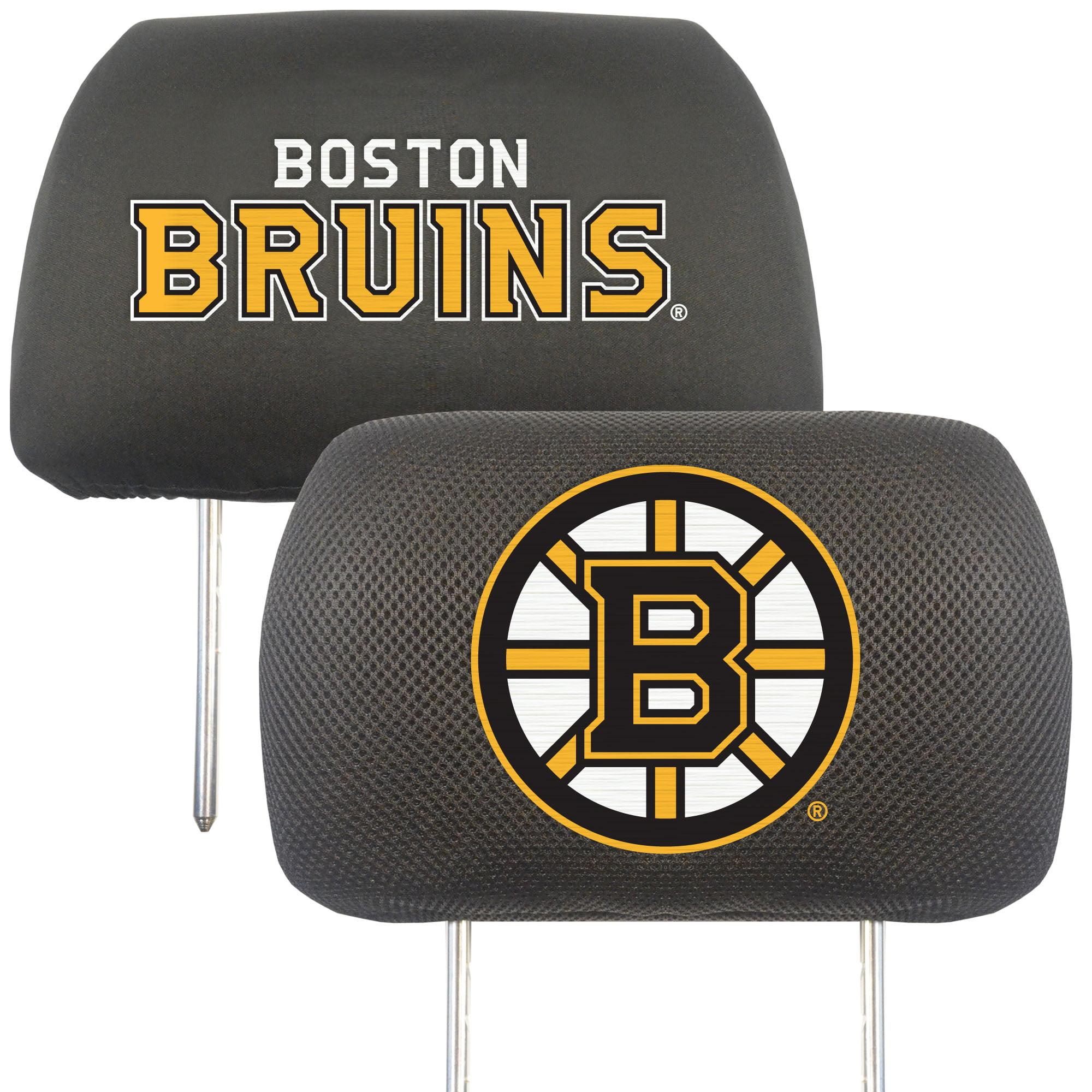 NHL Boston Bruins Head Rest Cover Automotive Accessory
