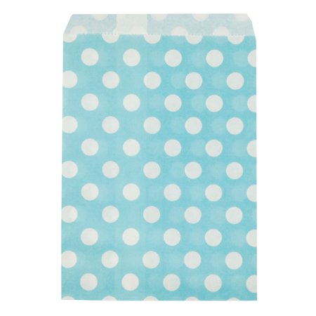Wrapables® Polka Dot Favor Bags, Light Blue (Set of 25)](Red Polka Dot Party Bags)