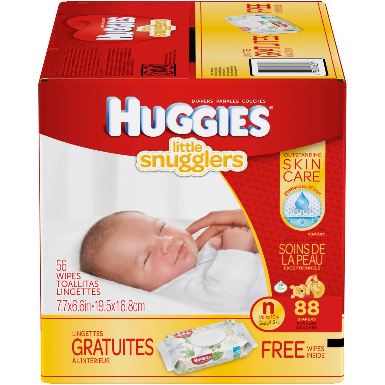 HUGGIES Little Snugglers Diapers, Newborn (Choose Diaper Count)