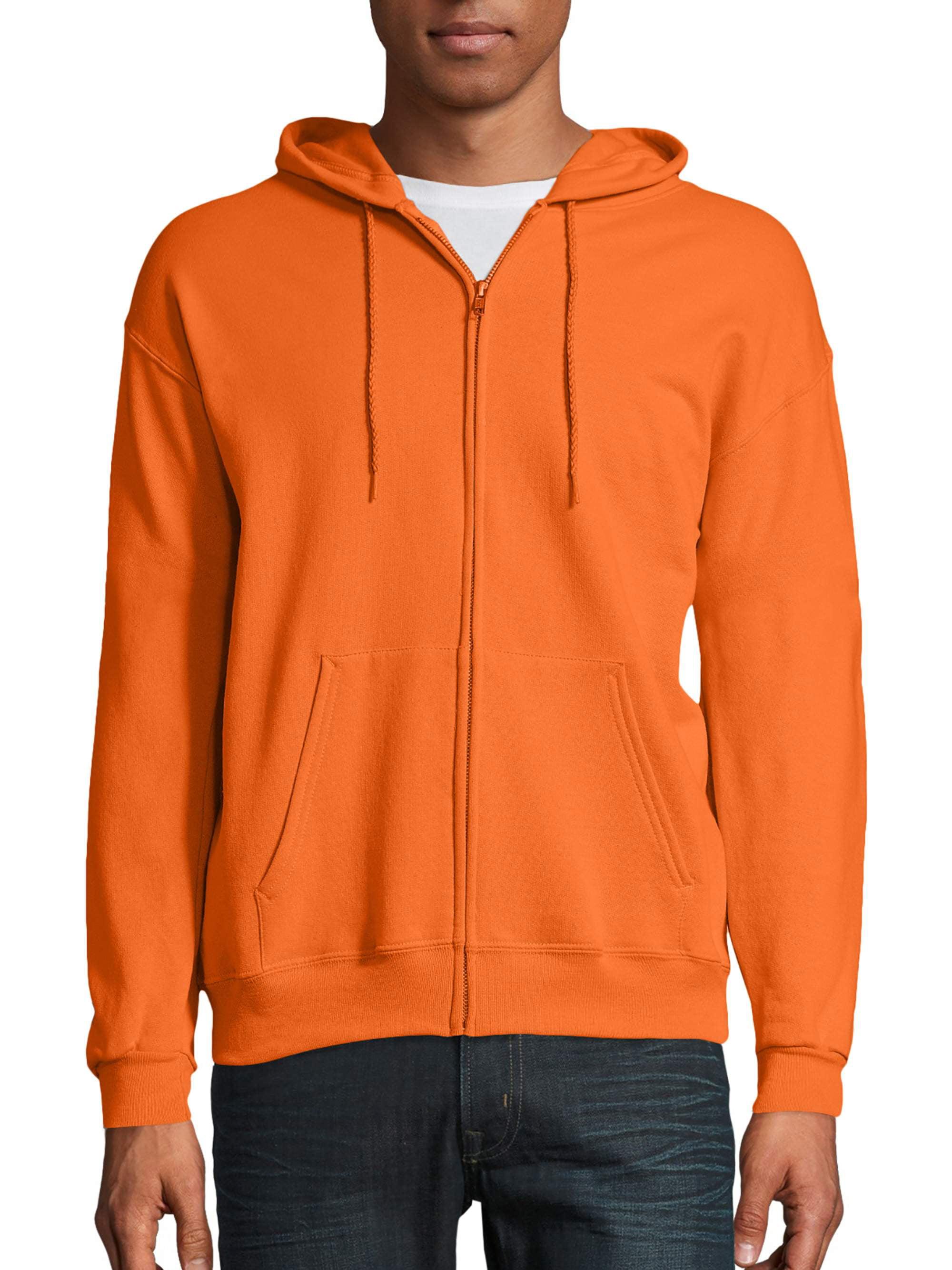 NEW Plain Neon Orange Sweatshirt Men Women Pullover Hoodie Cotton Blank Gildan