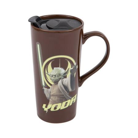 (Star Wars Yoda 20 oz. Heat Reactive Ceramic Travel Mug)