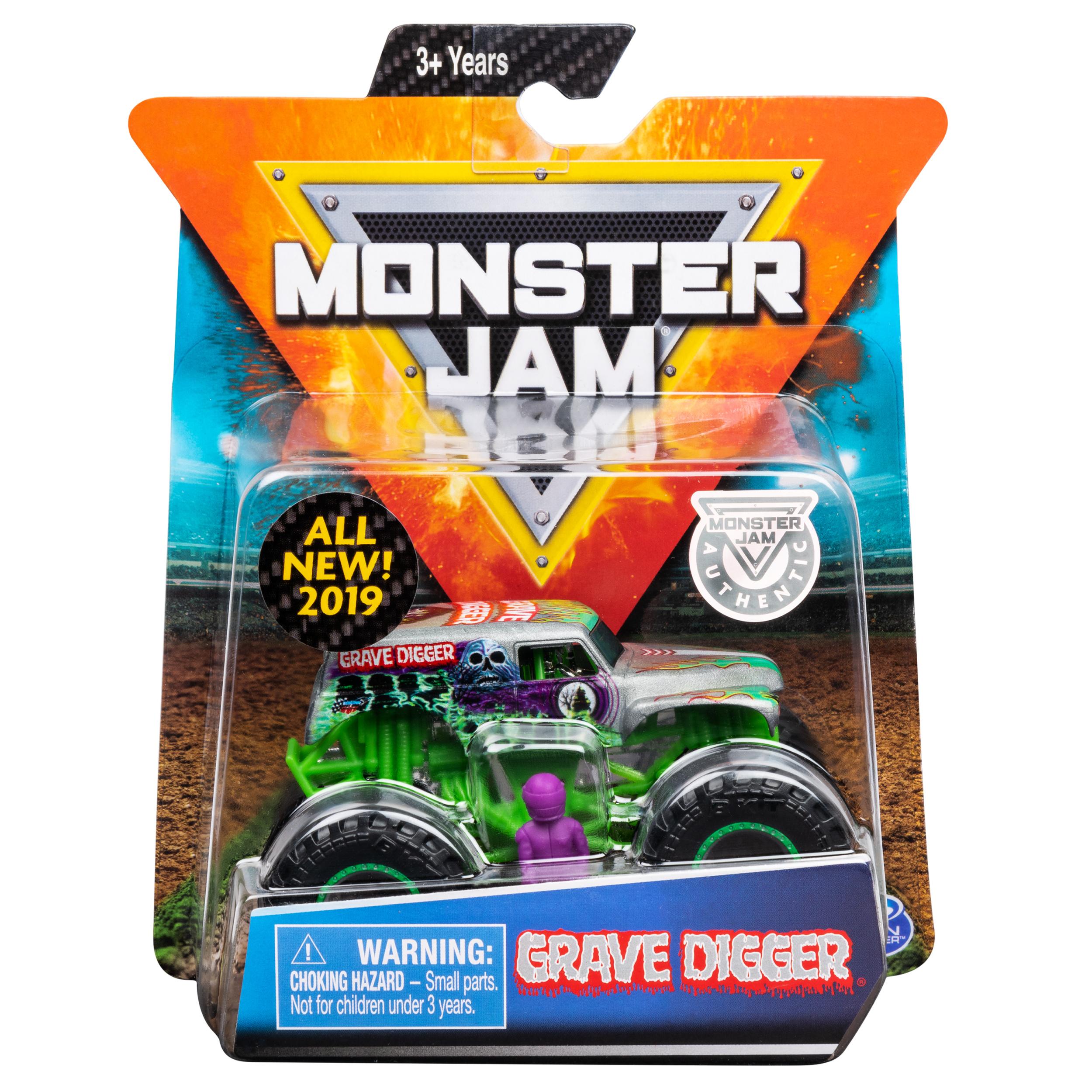 Monster Jam, Official Grave Digger Monster Truck, Die-Cast Vehicle, Arena Favorites Series, 1:64 Scale