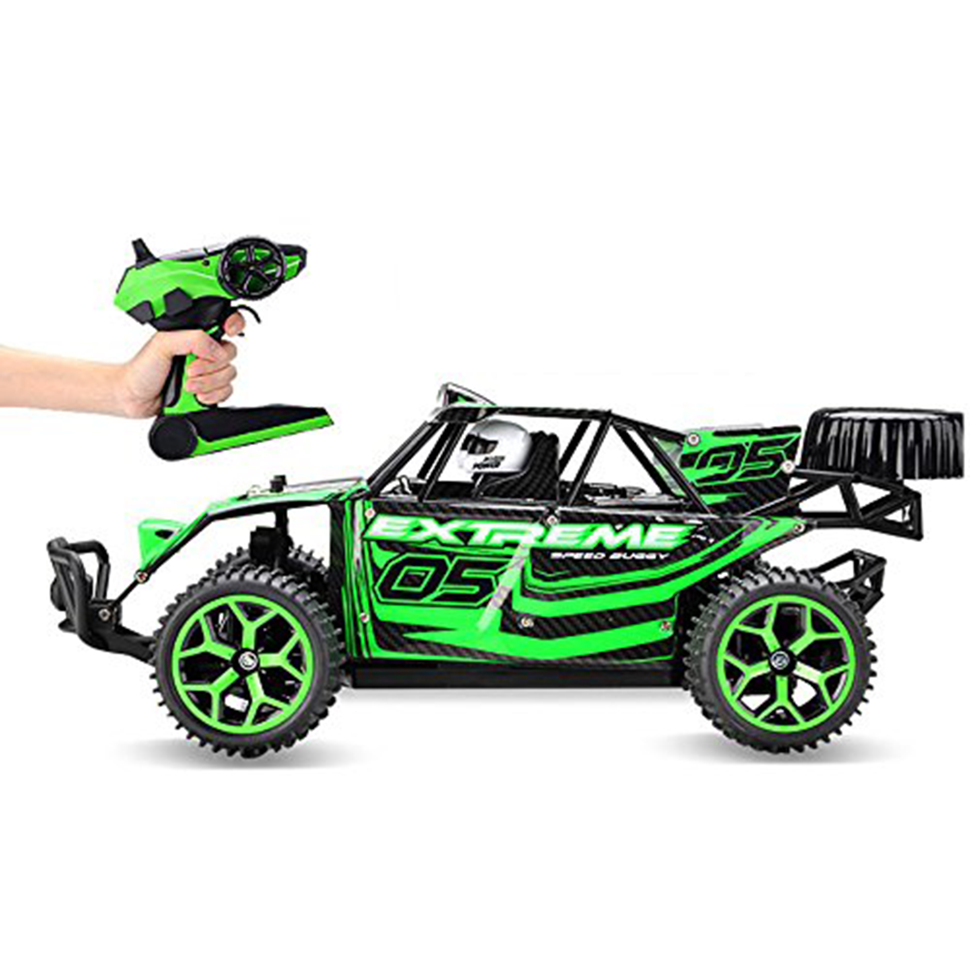 KARMAS PRODUCT 1:18 2.4G 4WD 20KM High Speed Off-Road RC Die Cast Racing CombinationCar Battery Control Vehicle Presents for Kids