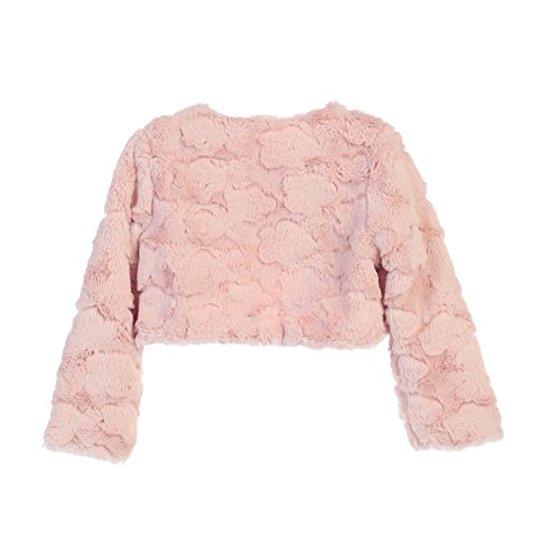 f87ff0402 Sweet Kids - Faux Fur Long Sleeve Bolero Jacket Shrug - Blush Cloud ...