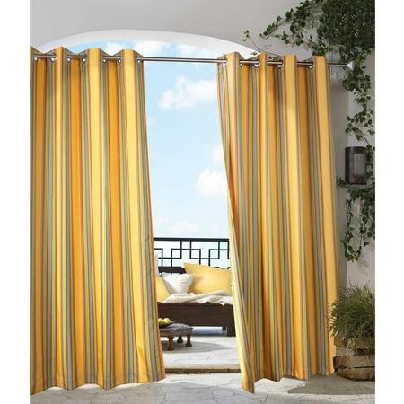 Gazebo Stripe Indoor/Outdoor Grommet Panel 50' Yellow Magnetic Roll