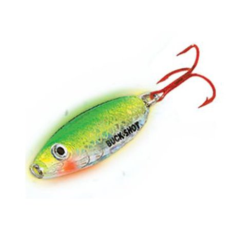 Northland Tackle Buck Shot Spoon 3/8 oz Super Glo Perch
