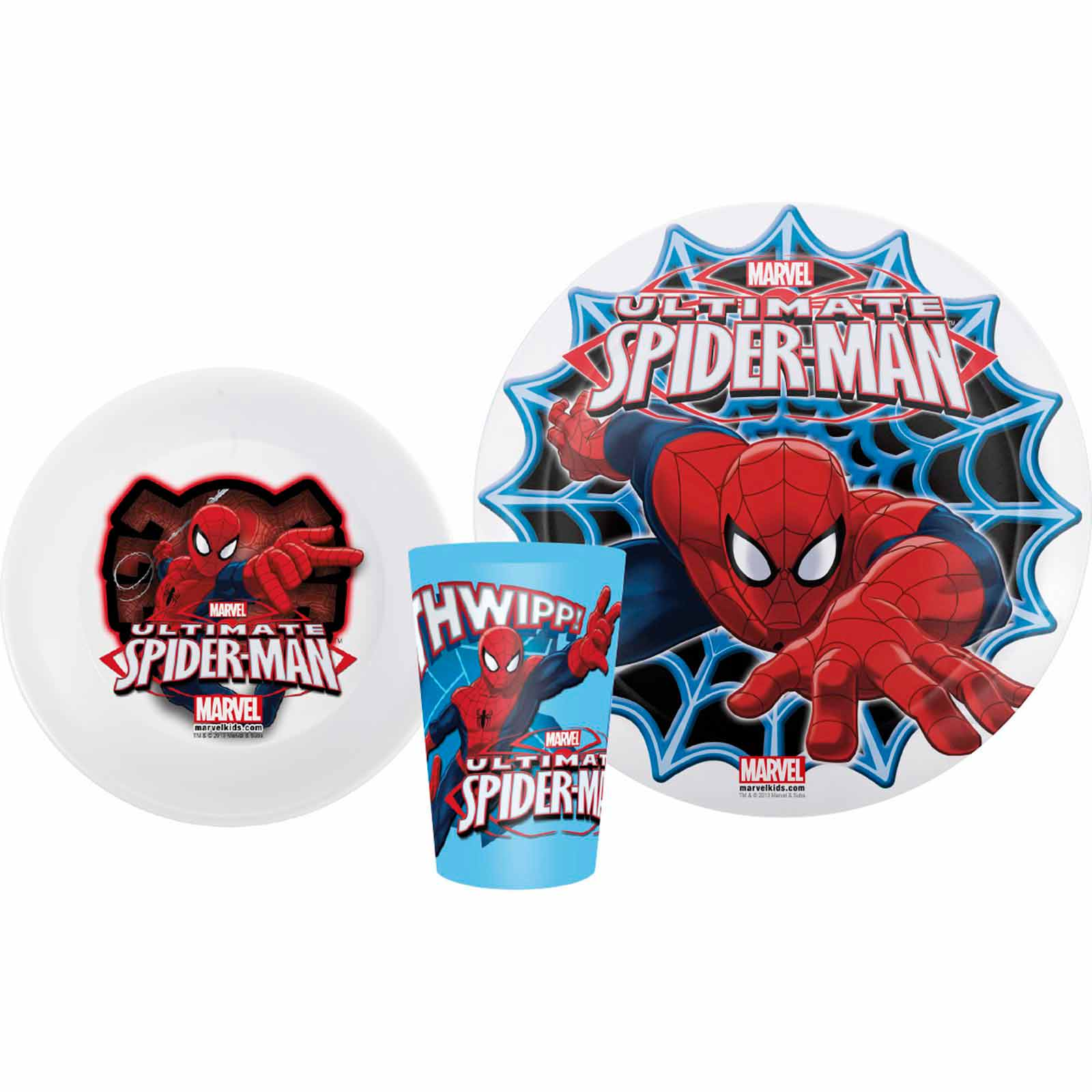 Marvel Comics Spider-Man Melamine Plates