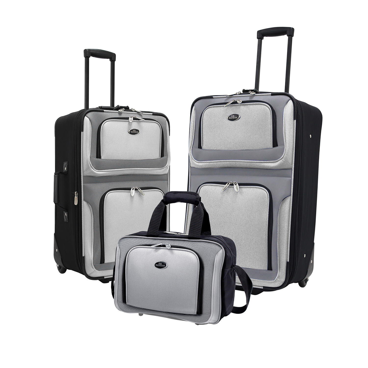 U.S. Traveler New Yorker 3-Piece Luggage Set in Gray