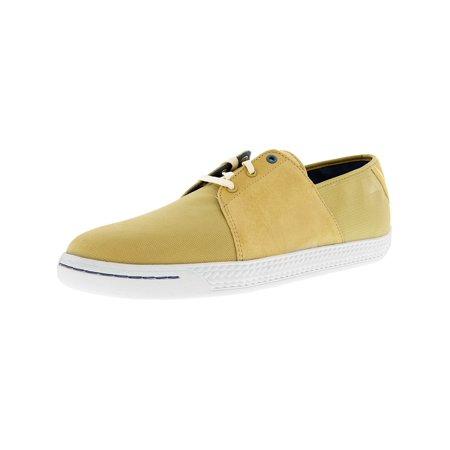Puma Men's Leedster Mini Lace Pale Khaki / White Low Top Fashion Sneaker - (Men's Miami Fashion)