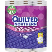 Quilted Northern Ultra Plush Toilet Paper Double Rolls, 176 sheets, 24 rolls