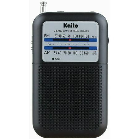 Ka200 Pocket Am Fm Radio  Black  Kaito New Ka200 Ka210 Noaa Fm Receiver Radio Black Am Amfm Weather Portable Pocket By Kaito