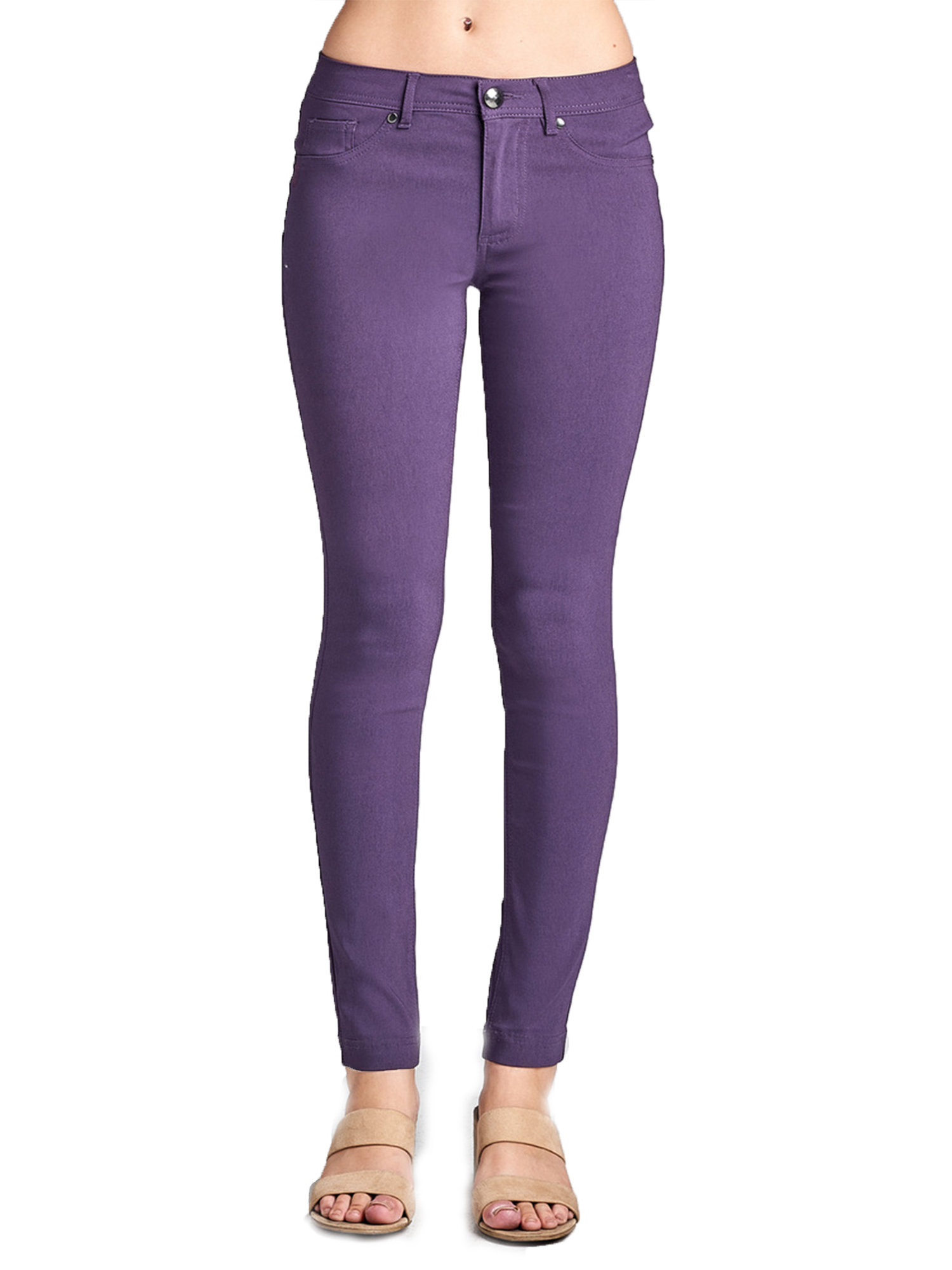 Emmalise Women's Basic Jean Look Jeggings Tights Spandex Skinny Leggings Bottoms