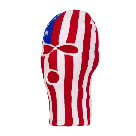 TopHeadwear Face Ski Mask 3 Hole - USA Stars and Stripes - image 2 of 2