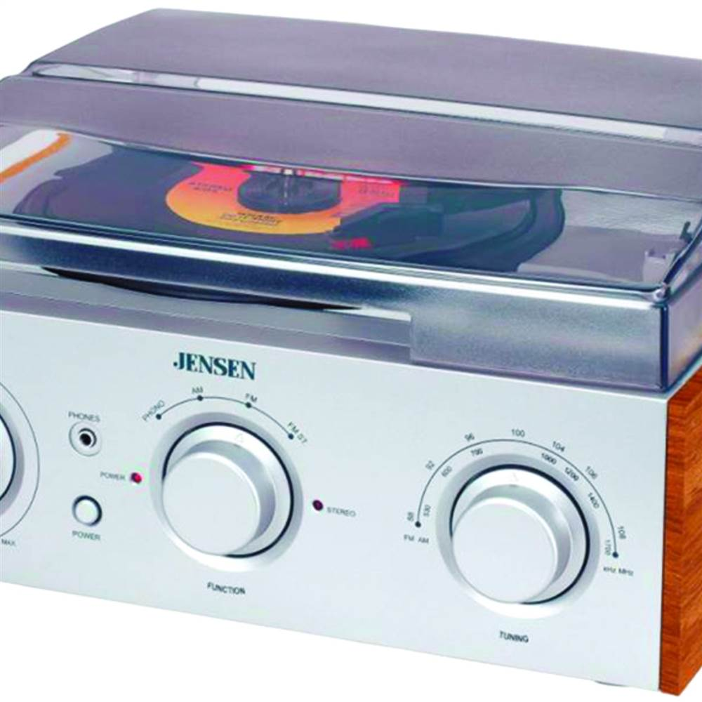 Stereo 3-Speed Turntable w Am/FM Receiver & 2 Built-in Speakers