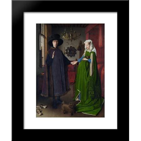 The Arnolfini Wedding. The Portrait of Giovanni Arnolfini and his Wife Giovanna Cenami (The Arnolfini Marriage) 20x24 Framed Art Print by Jan van