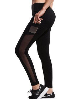836cbabbf Product Image SAYFUT Women s High Waist Yoga Pants Fashion Mesh Yoga  Pilates Pants Workout Exercise Skinny Leggings with