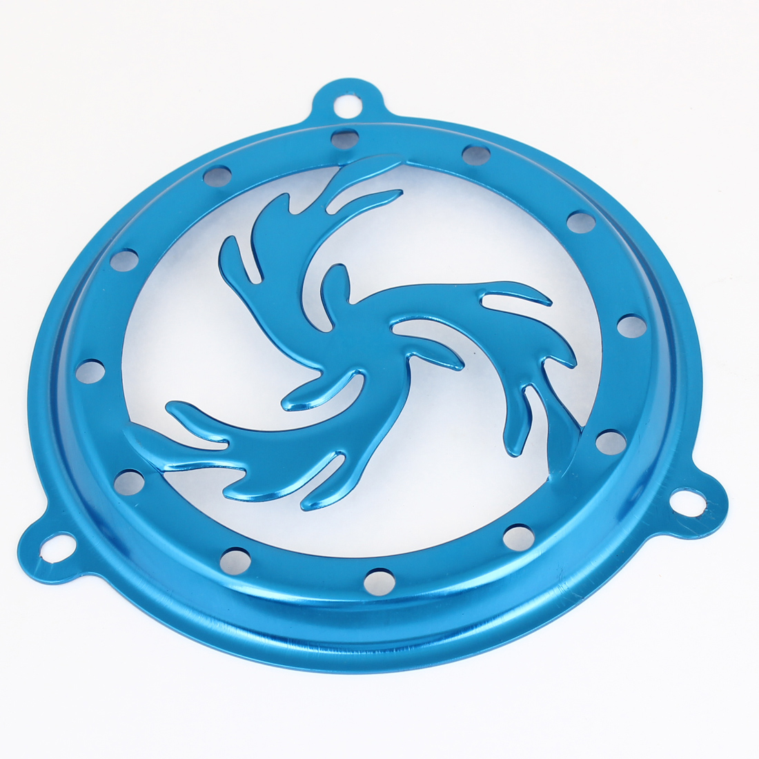 Autobike Motorcycle Aluminum Blue Circle Shaped Flame Fan Cover