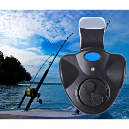Bissanzeiger Electronic Fish Bite Sound Alarm LED Light Alert Bell Fishing Rod Clip-On ST