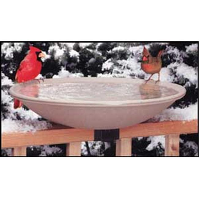 API 20 Inch Heated Deck Rail Birdbath with Quick Release by Allied Precision Industries Inc