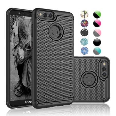 the latest d062c 7dddd Cases for Huawei Mate SE / Honor 7X / Honor 6X, Njjex [Shock Absorption]  Drop Protection Hybrid Dual Layer Armor Defender Protective Case Cover For  ...