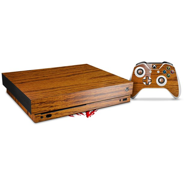 Skin Wrap For Xbox One X Console And Controller Wood Grain Oak