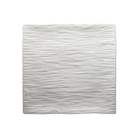 Winco WDP002-207, 14-Inch Ardesia Dalmata Porcelain Square Platter, Creamy White, 2PCS Porcelain Square Platter