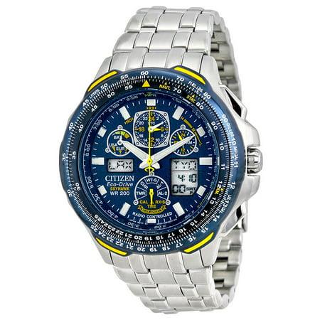 7ad038660 CITIZEN - Men s Citizen Blue Angels Skyhawk A.T Atomic Eco Drive Watch  JY0040-59L - Walmart.com