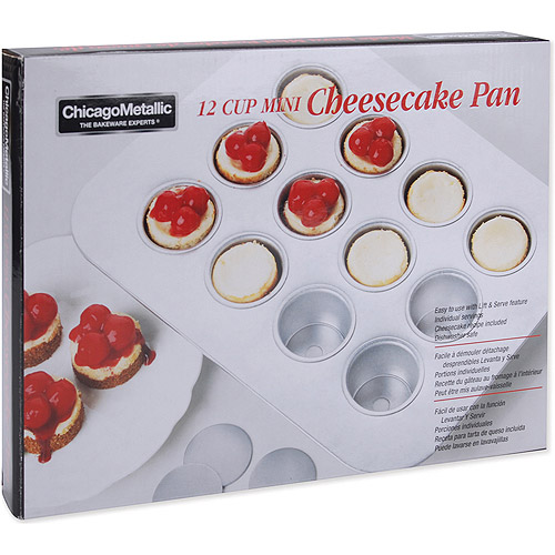 "Chicago Metallic Bakeware Mini Cheesecake Pan, 13-9/10"" x 10-3/5"""