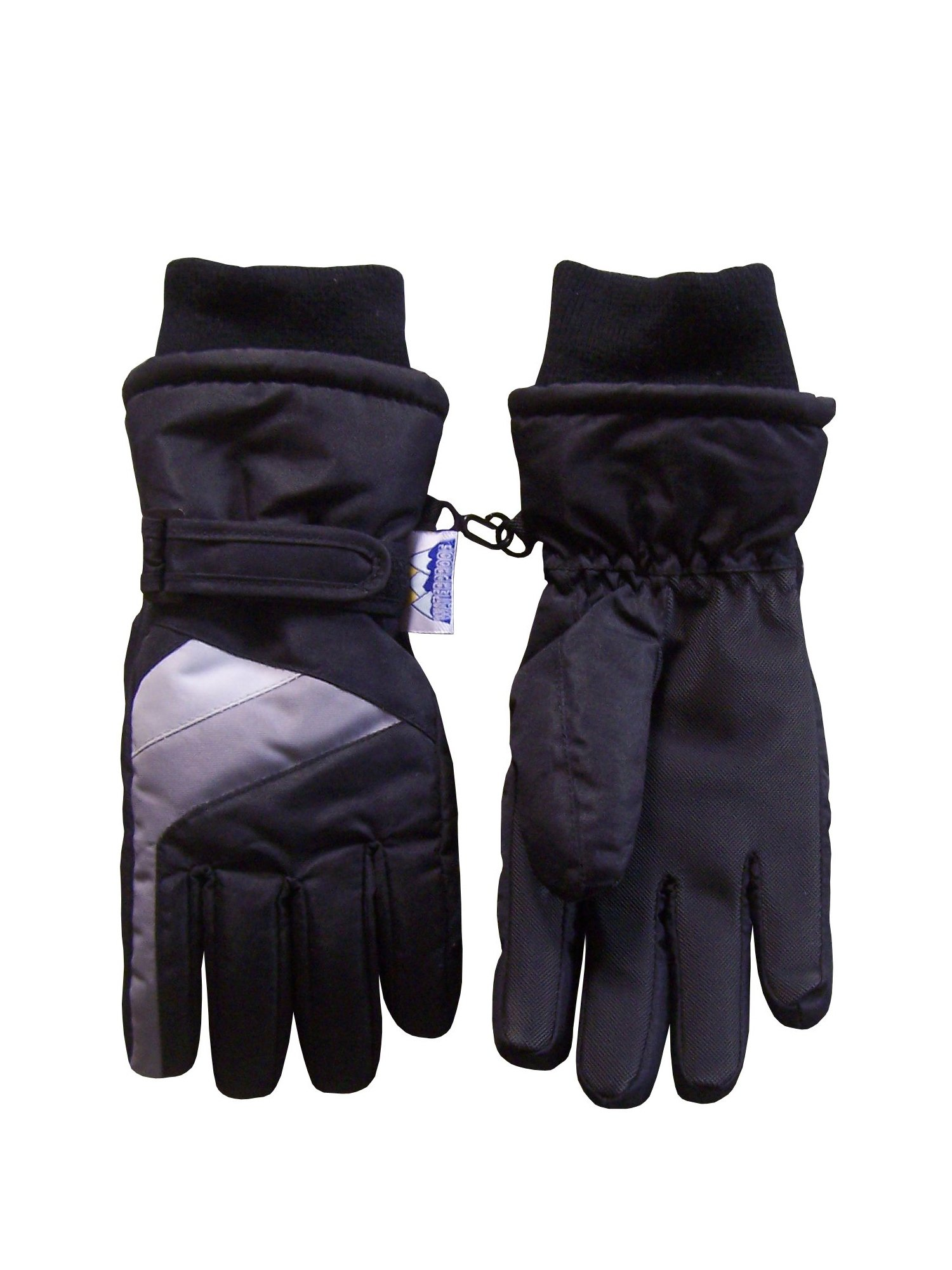 NICE CAPS Kids Unisex Waterproof and Thinsulate Lined Insulated Colorblocked Winter Snow Ski Gloves - Fits Boys Girls Toddler Childrens Child Youth Teens Sizes For Cold Weather