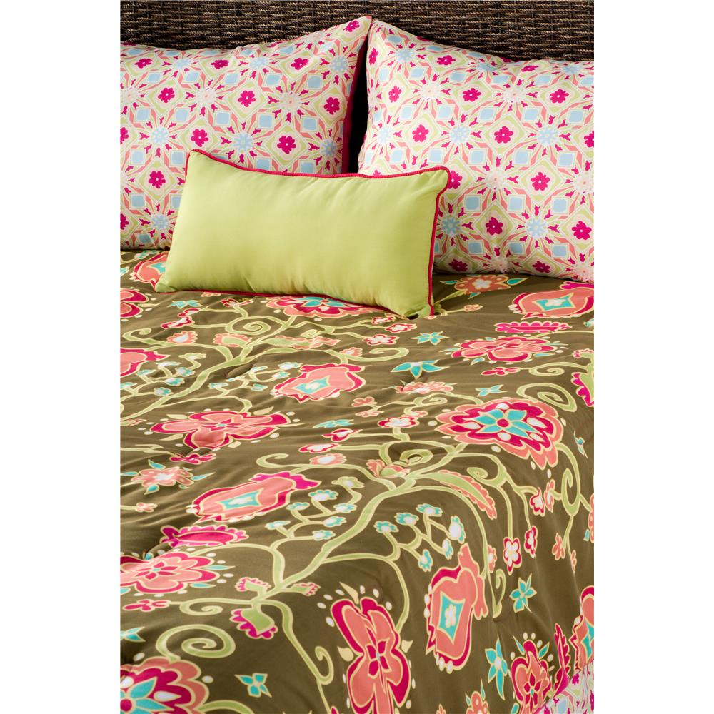 Rizzy Home Suzie Q Microfiber Polyester Brown Full/ Queen Kids Comforter Set