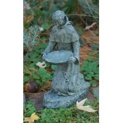 Kneeling St. Francis Statue in Moss Finish