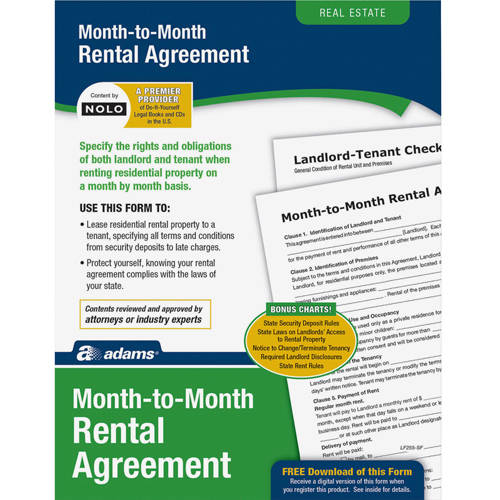 Adams Monthly Rental Agreement - Walmart.Com