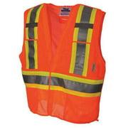 VIKING 2XL/3XL Mesh Safety Vest, Orange, U6125O-2XL/3XL