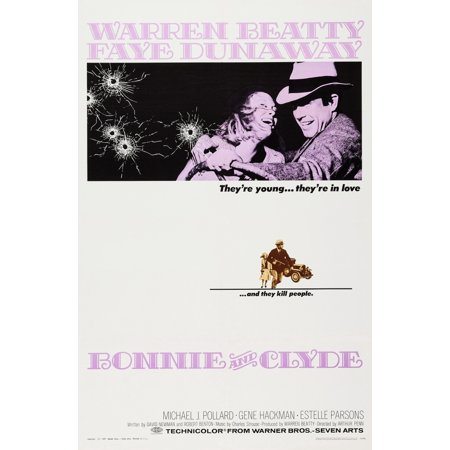 Bonnie And Clyde Us Poster Art From Left Faye Dunaway Warren Beatty 1967 Movie Poster Masterprint