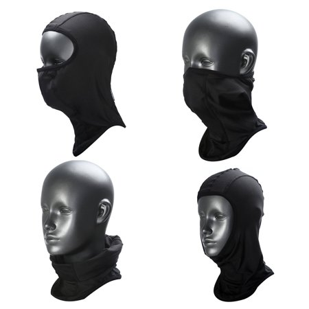 Thermal Balaclava Sports Face Mask, Windproof Warm, for Motorcycling, Skiing (Black-M)