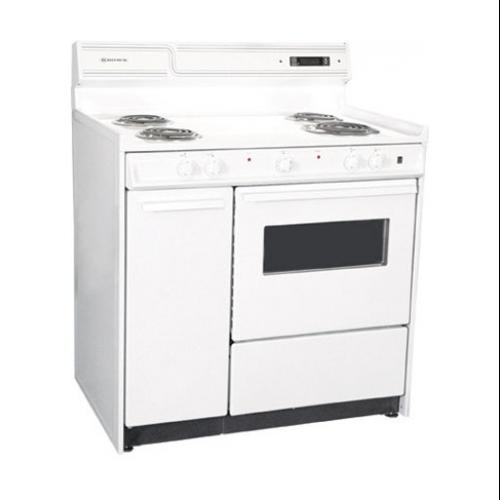 """Summit 36"""" Wide Deluxe Electric Range with Storage Compartment"""