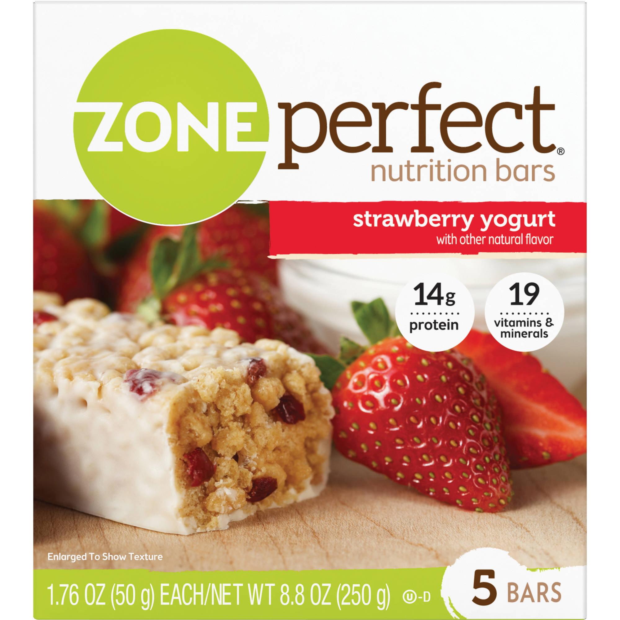 ZonePerfect Nutrition Bars, Strawberry Yogurt, 5 Pack