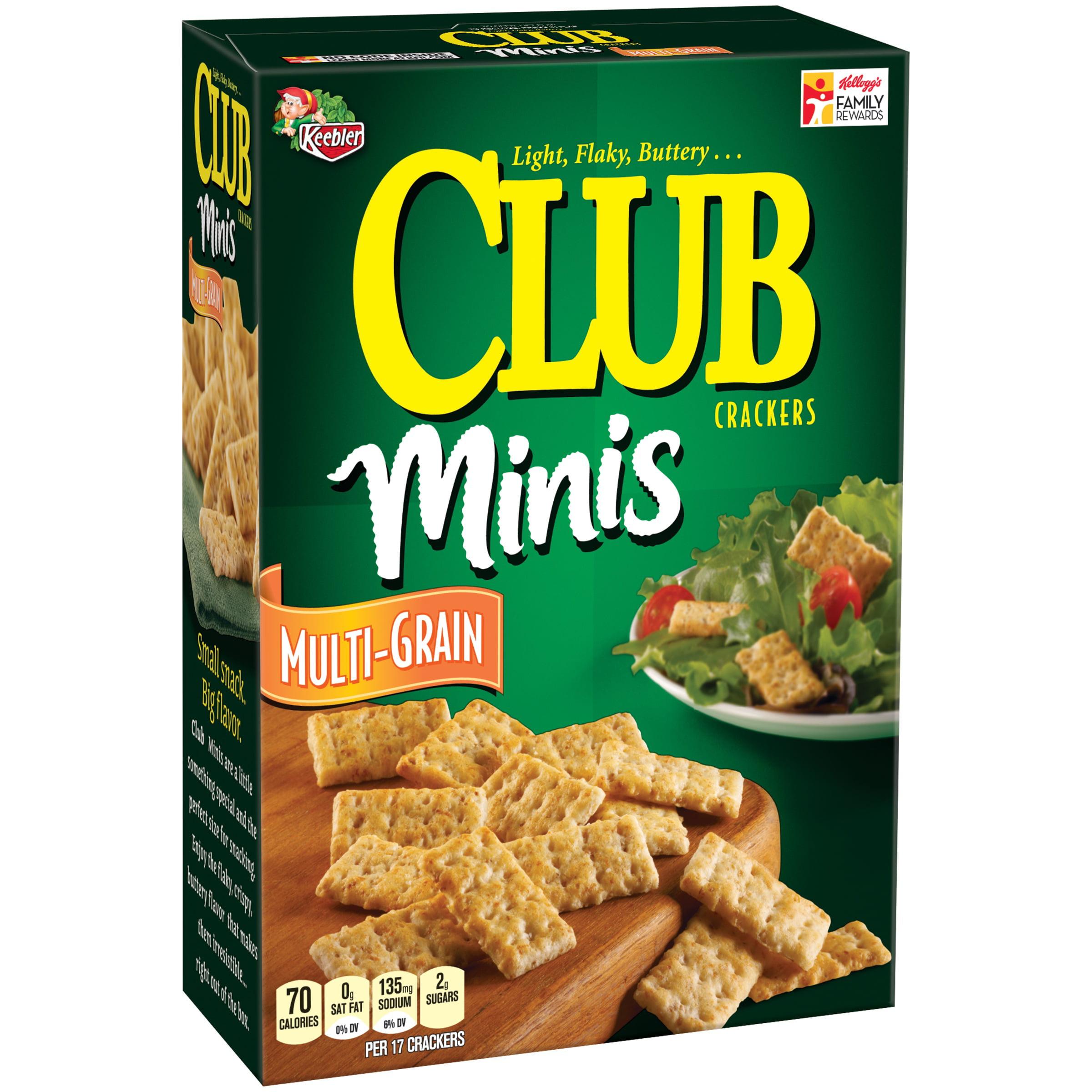 (2 Pack) Keebler® Club Minis Multi-Grain Crackers 11 oz. Box