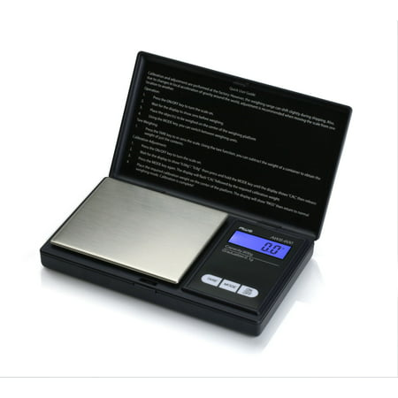 American Weigh Scales AWS-600-BLK Digital Personal Nutrition Scale, Pocket Size, Black ()