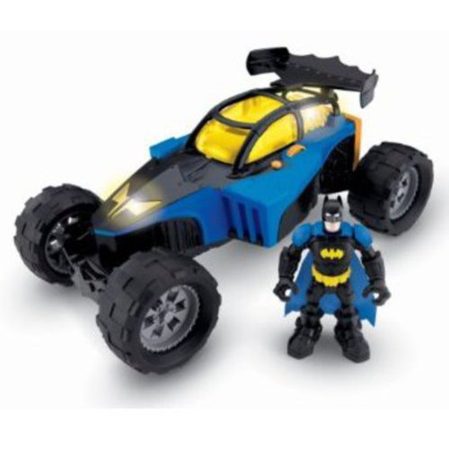 Fisher-Price Hero World Superfriends Transforming Batmobile and Batman
