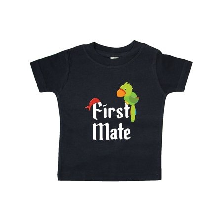 First Mate pirate with parrot and bandanna Baby T-Shirt - Baby Pirate Shirt
