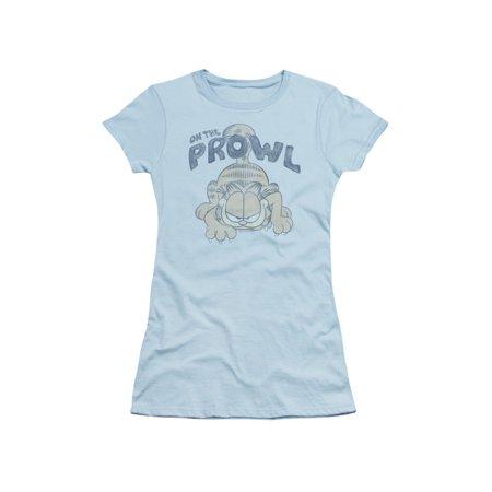 Garfield Comic Strip Cartoon On The Prowl Juniors Sheer T-Shirt Tee](Halloween Garfield Strip)