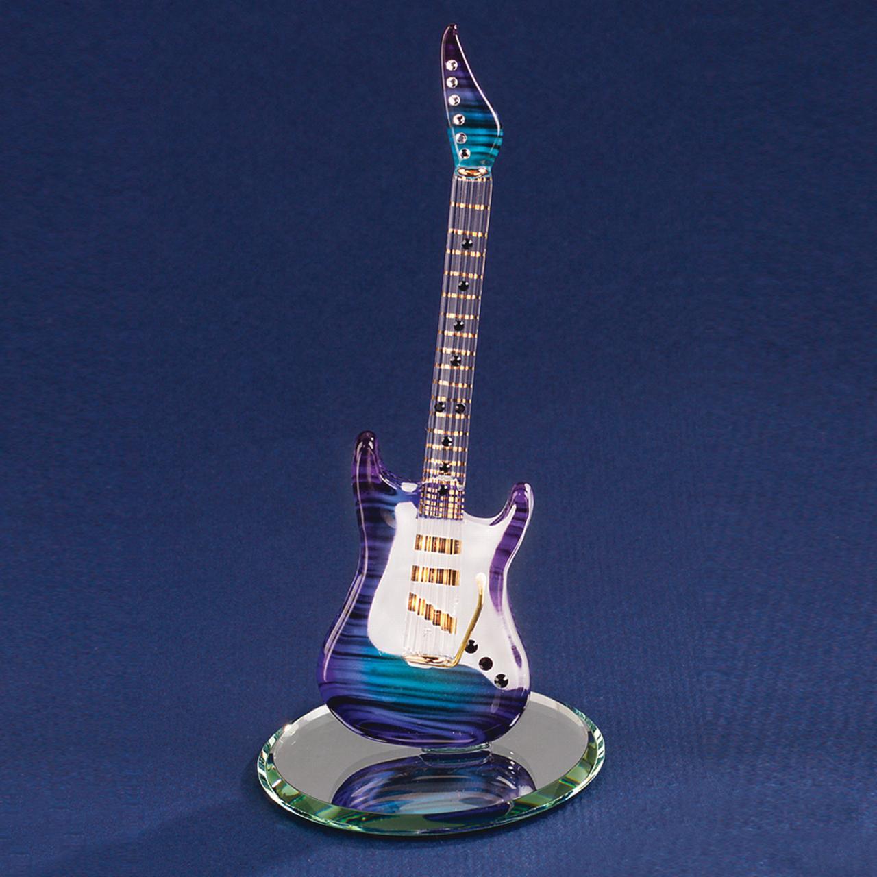 Purple Haze Guitar Glass Figurine Glas Baron Music Motorcycle For Women