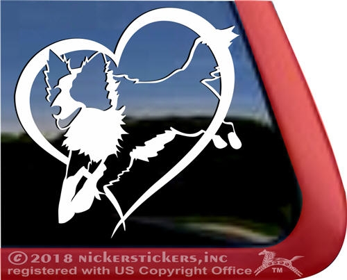 I Heart Love My border collie decal sticker