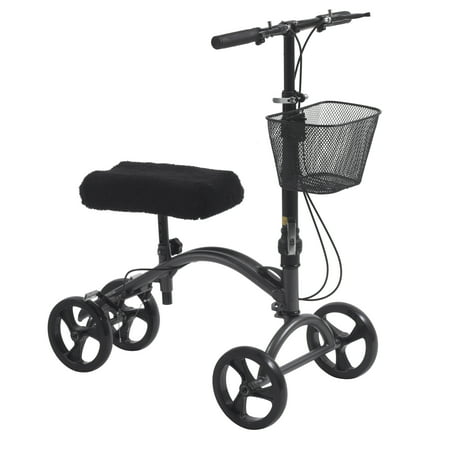 Drive medical dv8 aluminum steerable knee walker knee scooter crutch