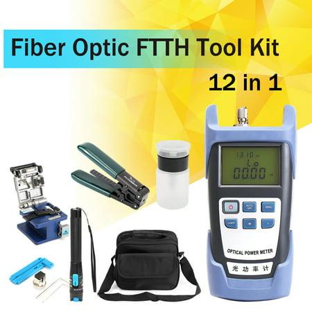 Fiber Optic powermeter FTTH Tool Kit FC-6S Cutter Cleaver Optical Power Meter Visual (Best Power Meter For Optic Fibers)